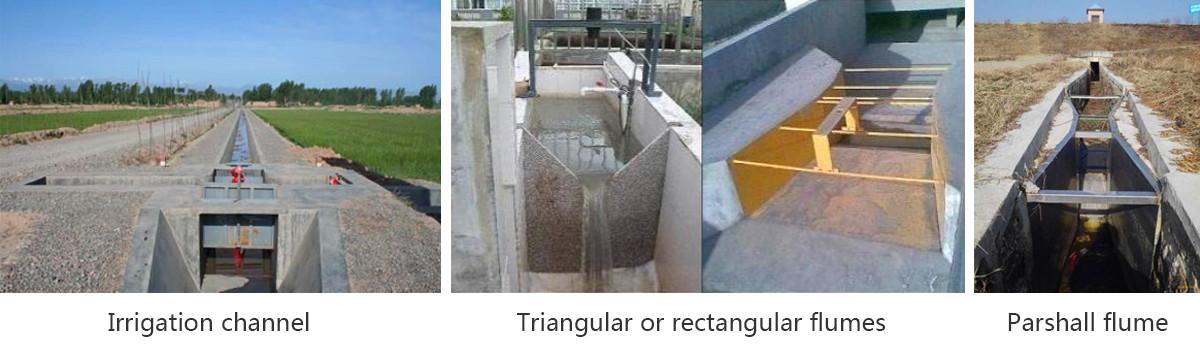 open channel flow meter for water flow velocity