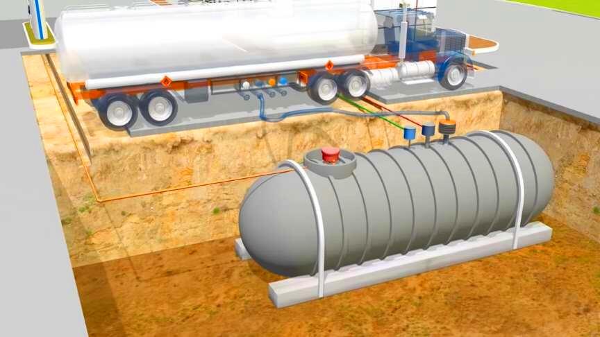 Magnetostrictive level transmitter in petrol tanks