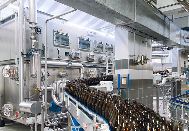 Flat diaphragm pressure sensors are used in Brewery