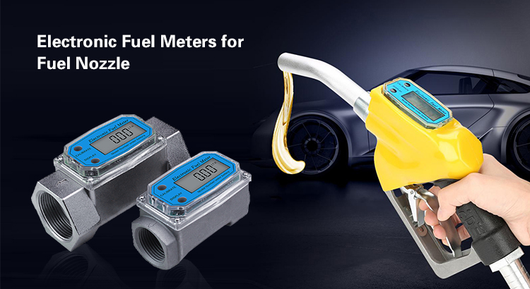 Electronic fuel meters for fuel nozzles