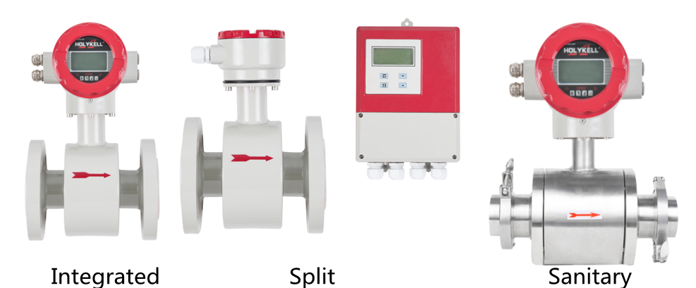 Eelectromagnetic flow meters are used for flow measurement