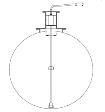 Magnetostrictive level probes are used for fuel level measurement