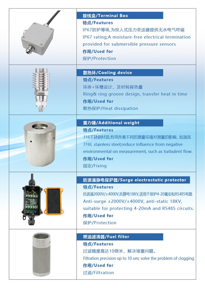 Holykell provides various accessories for pressure level sensors
