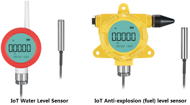 IoT level sensors are used for fuel or water level measurement